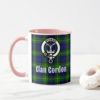 Clan Gordon Tartan Crest Mug