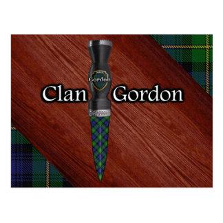 Clan Gordon Tartan Sgian Dubh Blade Postcard