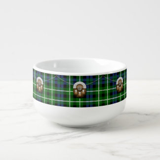 Clan Graham Tartan And Sporran Soup Mug