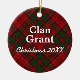 Clan Grant Scottish Tartan Christmas Ornament