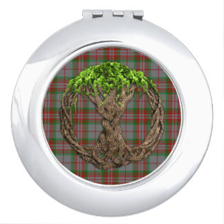 Clan Gray Tartan And Celtic Tree Of Life Mirrors For Makeup