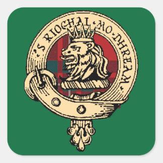 Clan Gregor Badge Tartan Sticker Green
