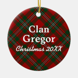 Clan Gregor Scottish Tartan Christmas Ornament