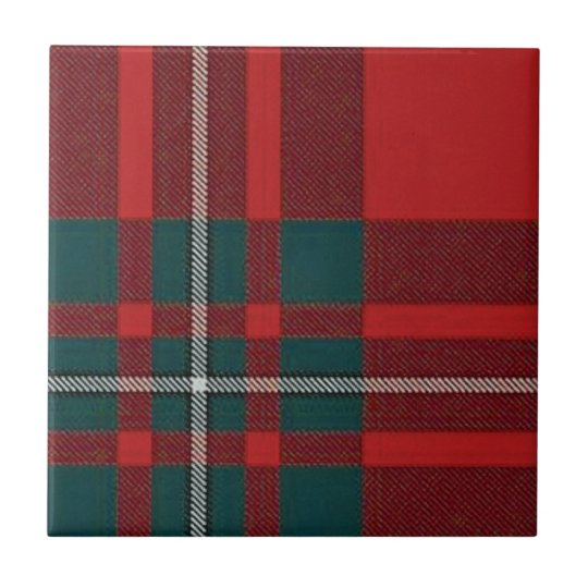 Clan Gregor Trivit/Tile Tartan Only Small Square Tile