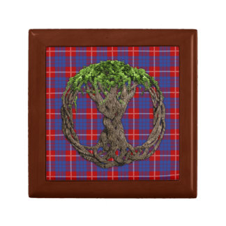 Clan Hamilton Tartan And Celtic Tree Of Life Gift Box