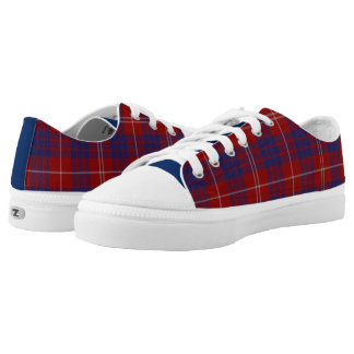 Clan Hamilton Tartan Plaid Tennis Shoes Printed Shoes