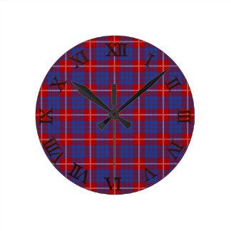 Clan Hamilton Tartan Round Clock