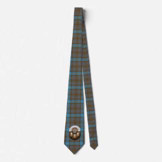 Clan Hannah Tartan And Sporran Tie