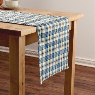 Clan Hannay Blue and White Scottish Tartan Short Table Runner