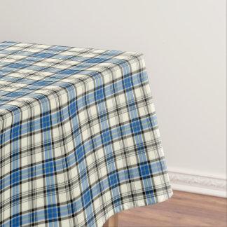Clan Hannay Bright Blue and White Scottish Tartan Tablecloth
