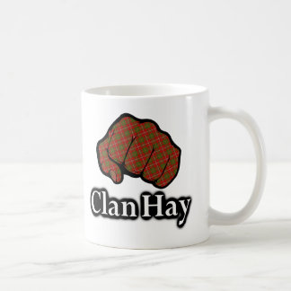 Clan Hay Scotland Proud Tartan Fist Coffee Mug