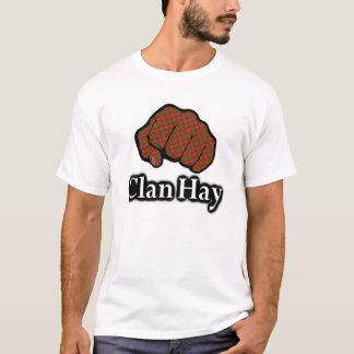 Clan Hay Scotland Proud Tartan Fist T-Shirt