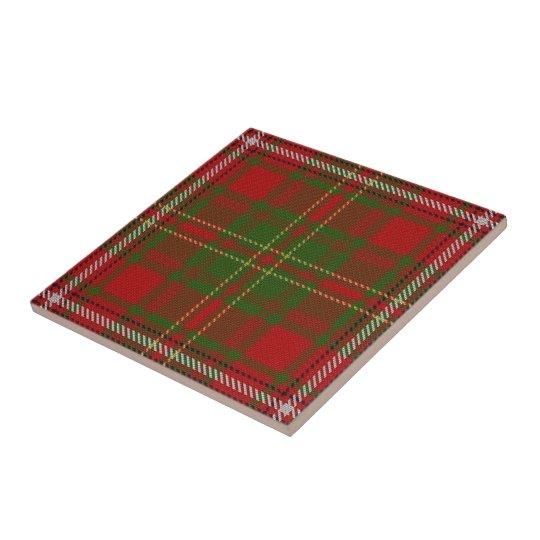 Clan Hay Scottish Expressions Red Tartan Tile