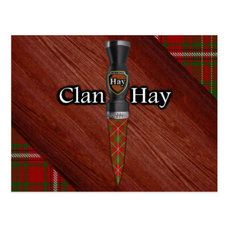 Clan Hay Tartan Sgian Dubh Blade Postcard