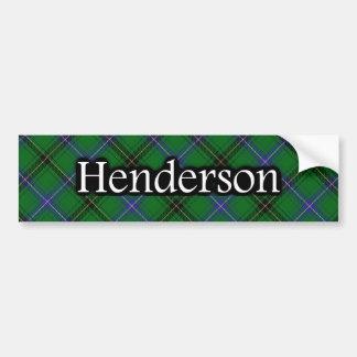 Clan Henderson Scottish Tartan Bumper Sticker