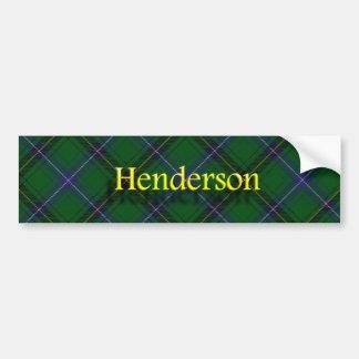 Clan Henderson Scottish Tartan Car Bumper Sticker