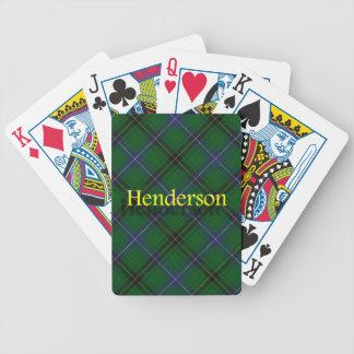 Clan Henderson Scottish Tartan Card Decks