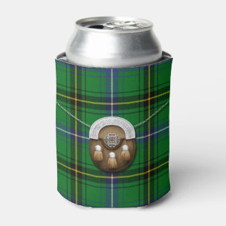 Clan Henderson Tartan And Sporran Can Cooler