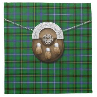 Clan Henderson Tartan And Sporran Cloth Napkin