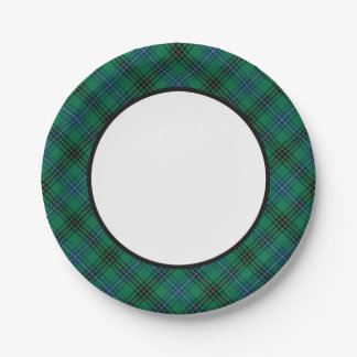 Clan Henderson Tartan Border 7 Inch Paper Plate