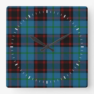 Clan Home Tartan Square Wall Clock