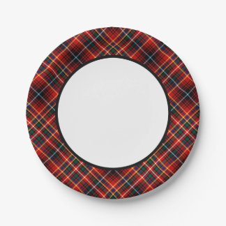 Clan Innes Tartan Border Paper Plate