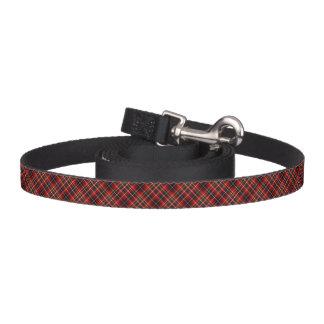 Clan Innes Tartan Red and Black Plaid Dog Leash