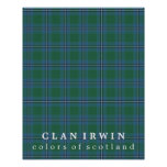 Clan Irwin Colours of Scotland Tartan Poster