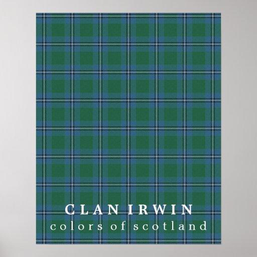 Clan Irwin Colours of Scotland Tartan Poster