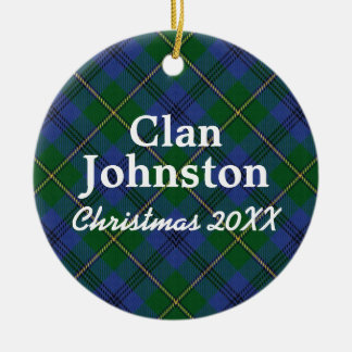 Clan Johnston Scottish Tartan Christmas Ornament
