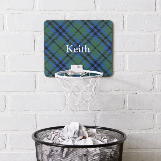 Clan Keith Tartan Customise Name Mini Basketball Hoop