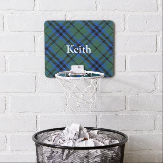 Clan Keith Tartan Customize Name Mini Basketball Hoop