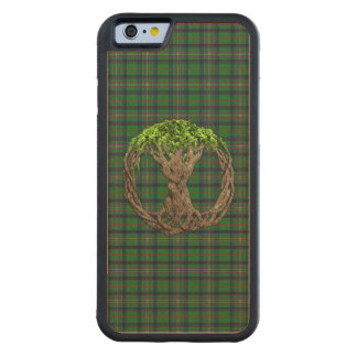 Clan Kennedy Tartan And Celtic Tree Of Life Carved Maple iPhone 6 Bumper Case