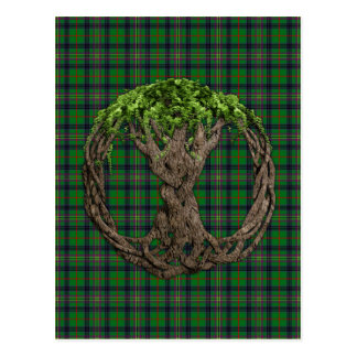 Clan Kennedy Tartan And Celtic Tree Of Life Postcard