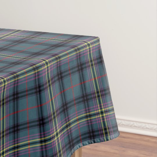 Clan Kennedy Teal Green and Black Ancient Tartan