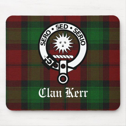 Clan Kerr Crest Badge Tartan Mouse Mat