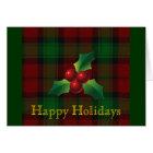Clan Kerr Tartan Holiday Card