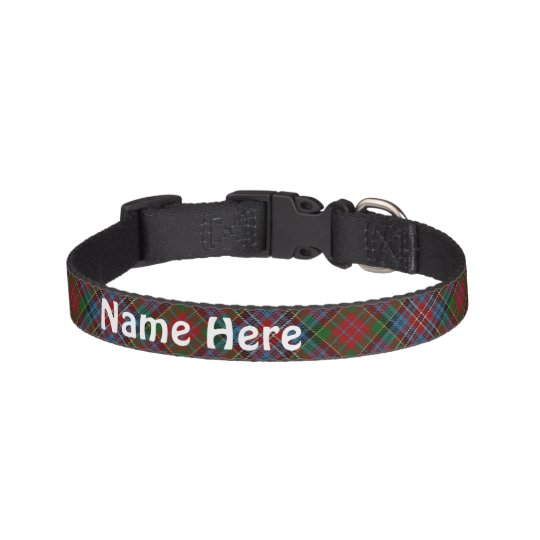 Clan Kidd Tartan Customise Pet's Name Pet Collar