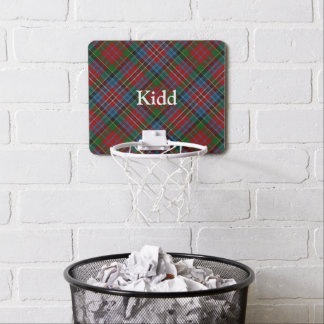 Clan Kidd Tartan Customize Name Mini Basketball Hoop