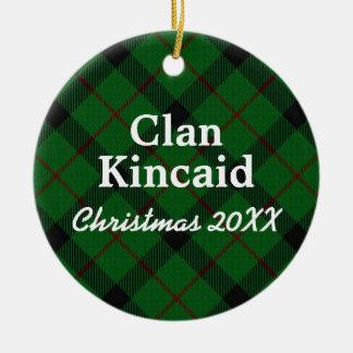 Clan Kincaid Scottish Tartan Christmas Ornament