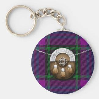 Clan Laird Tartan And Sporran Key Ring