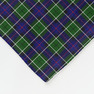 Clan Leslie Tartan Fleece Blanket