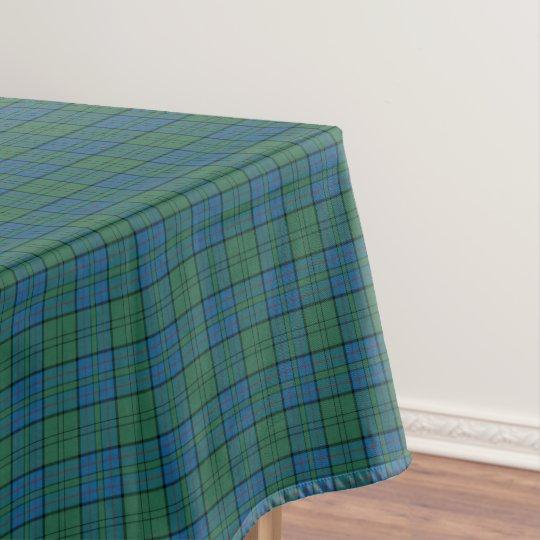 Clan Lockhart Green and Blue Scottish Tartan Tablecloth
