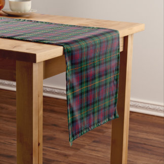 Clan Logan Navy Blue and Green Scottish Tartan Short Table Runner