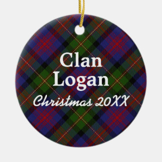 Clan Logan Scottish Tartan Christmas Ornament
