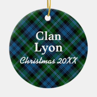 Clan Lyon Scottish Tartan Christmas Ornament
