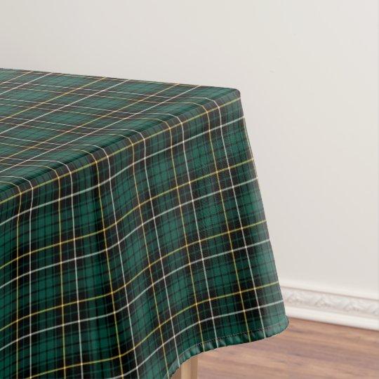 Clan MacAlpine Dark Green Scottish Tartan Tablecloth