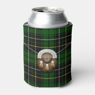 Clan MacAlpine Tartan And Sporran Can Cooler