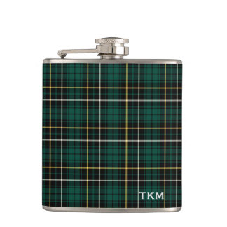 Clan MacAlpine Tartan Monogram Hip Flask