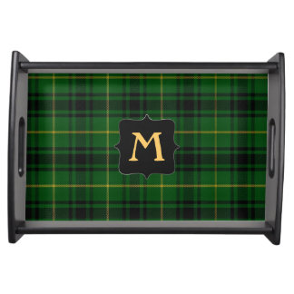 Clan MacArthur Plaid Monogram Serving Tray